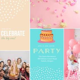 Birthday Party Invitation Video Template