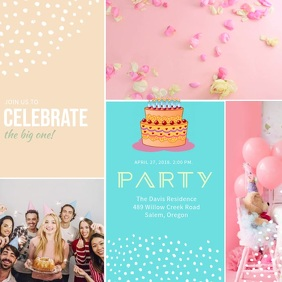 Birthday Party Invitation Video Template