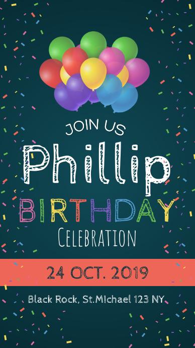 Birthday Party Invitation Whatsapp Status