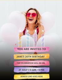 birthday party INVITE Design Template