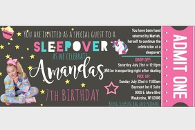 Birthday Party Invite Poster template