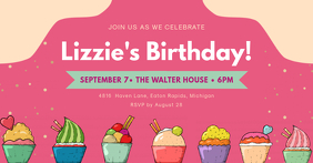 Birthday Party Invite Facebook Event Cover