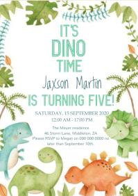 BIRTHDAY PARTY INVITE INVITATION DESIGN A4 template