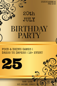 BIRTHDAY PARTY night flyer template