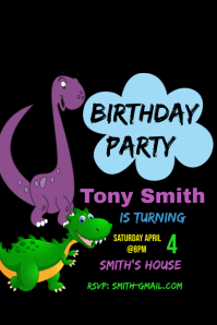 Birthday Party Pinterest na Graphic template