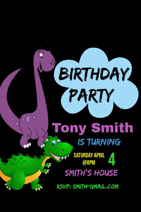 Birthday Party Pinterest-afbeelding template