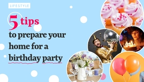Birthday Party Prep Blog Header template