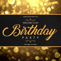 BIRTHDAY PARTY VIDEO BANNER Wpis na Instagrama template