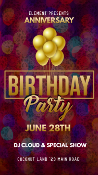 Birthday Party Whatsapp Status