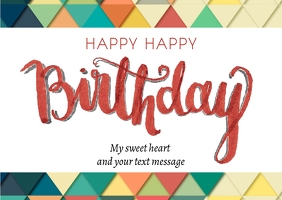 Birthday post card template Postcard