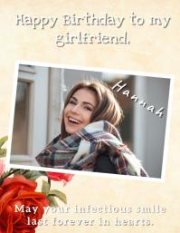 Birthday Poster Card Template 传单(美国信函)