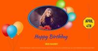 Birthday Poster delt Facebook-billede template
