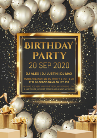 BIRTHDAY poster A4 template