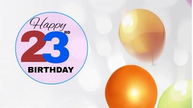 Birthday Poster Digitale Vertoning (16:9) template