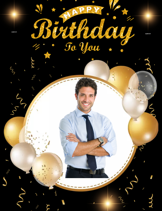 Birthday poster Folder (US Letter) template