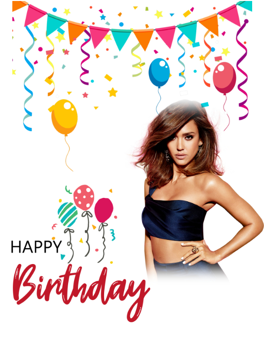 Birthday Poster Flyer (Letter pang-US) template