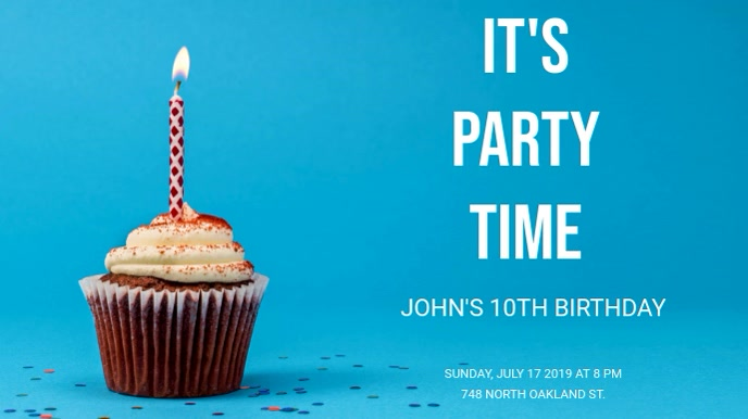 birthday poster template postermywall