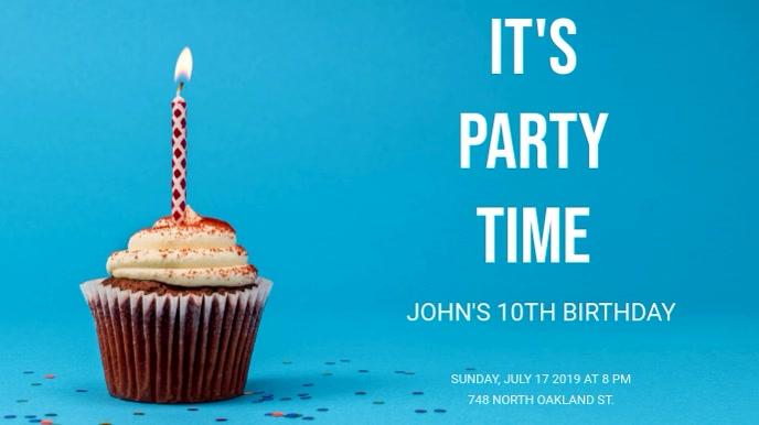 Birthday Poster Digitale Vertoning (16:9) template