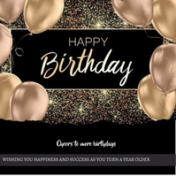 Birthday Poster Carré (1:1) template