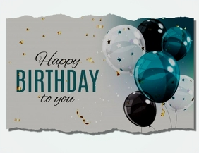 Birthday poster Flyer (US Letter) template