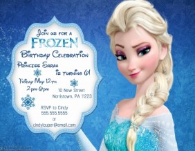 Customizable Design Templates for Frozen Birthday Invitation ...
