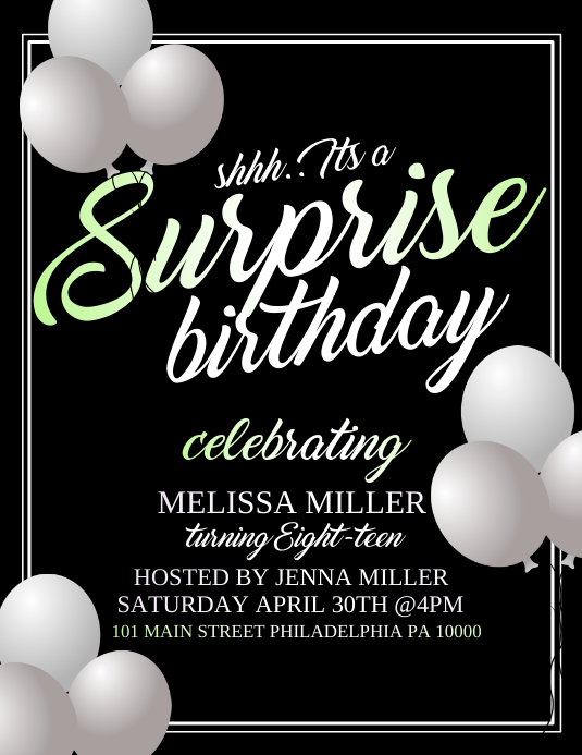 Birthday Flyer (US-Letter) template