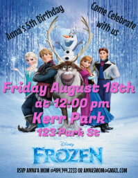 Customizable design templates for frozen birthday invitation frozen birthday party invitation similar design templates stopboris Image collections