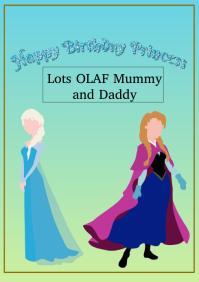 birthday princess A4 template