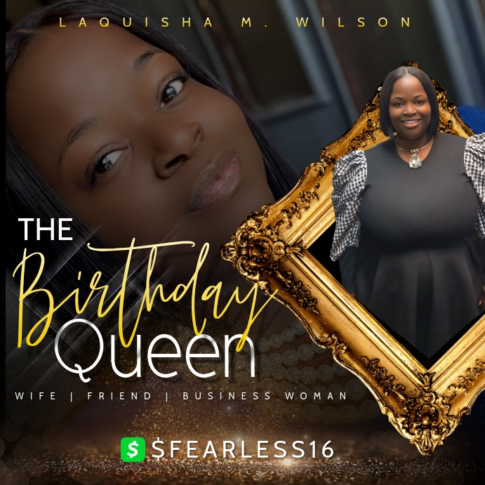 Birthday Queen Instagram-opslag template