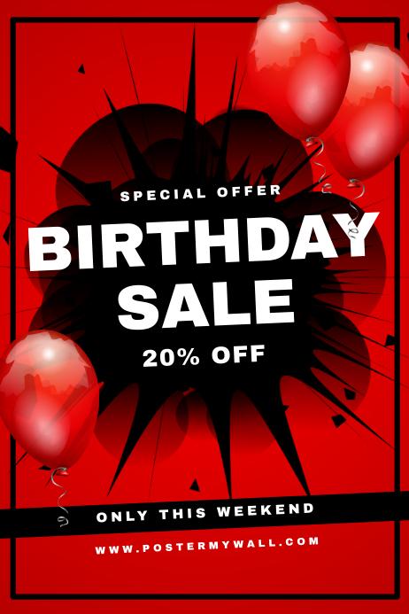 Birthday Super Sale Flyer Retail Template