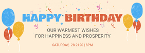 Birthday Team Wish Facebook Cover Template