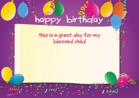 Birthday Template ไปรษณียบัตร