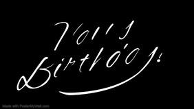 Birthday template Vídeo de portada de Facebook (16:9)