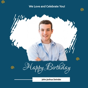 BIRTHDAY TEMPLATE Сообщение Instagram