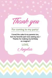 Birthday Thank you card 标签 template