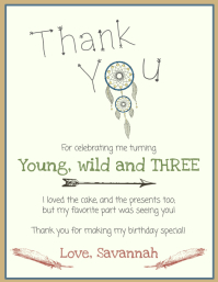 Birthday Thank You Card Template