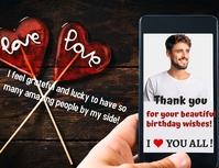 Birthday thanks flyer template Volantino (US Letter)
