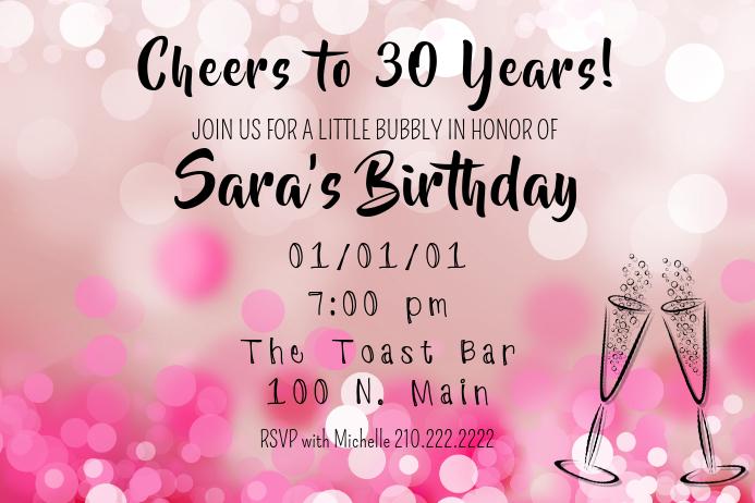 Birthday Toast Invite