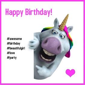Birthday Unicorn Birthday