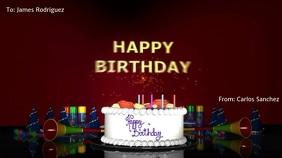 BIRTHDAY VIDEO CARD Pantalla Digital (16:9) template