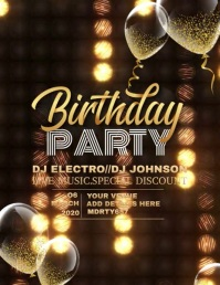 birthday video template,event flyers