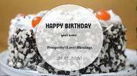 Birthday video template Digital Display (16:9)