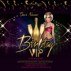 birthday VIP event