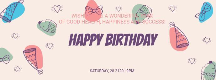 Birthday Wish Facebook Cover Template Facebook-omslagfoto