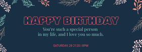 Birthday Wish Facebook Cover Template
