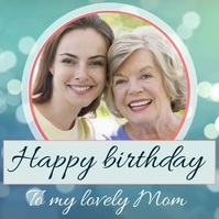 birthday wish for mother template โพสต์บน Instagram