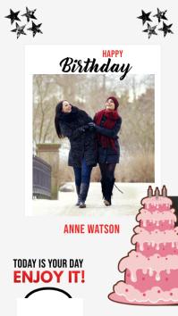 Birthday Wish Instagram Story template
