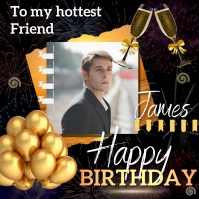 birthday wish instagram template