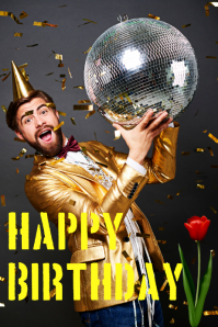 birthday wish poster special wish greeting template