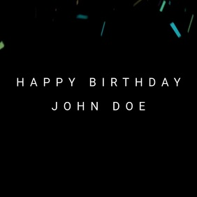 Birthday Wish Template video poster